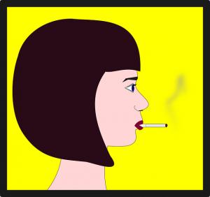 たばこを吸うとバストがしぼむ